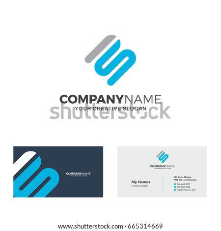 Technology Logo Template Initial MS