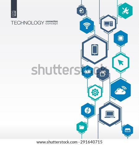technology network hexagon