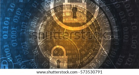 Technology security concept. Modern safety web  digital background. Protection system