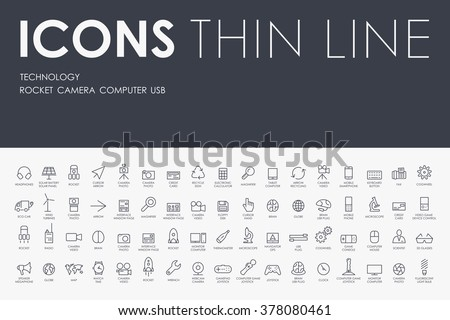 technology Thin Line Icons
