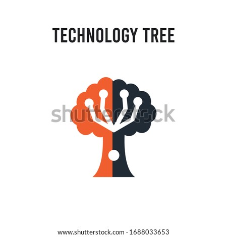 technology tree vector icon on