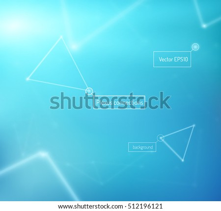 Technology vector background with connection patterns. EPS10. #512196121