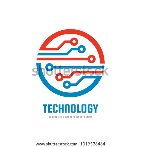Technology - vector business logo template for corporate identity. Abstract chip sign. Network, internet tech concept illustration. Design element.