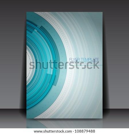Technology Vector Flyer Design - EPS10 Background