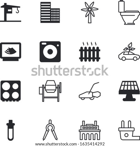 technology vector icon set such as: reaction, technical, laboratory, magnification, pencil, loupe, designer, yellow, cold, photography, paper, art, education, waves, pharmacy, discovery, app