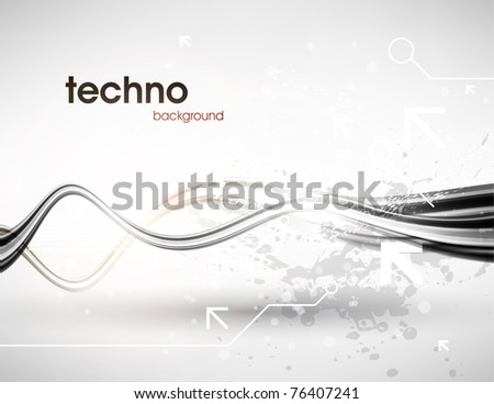 Technology web background/banner for business design. Vector Eps 10.
