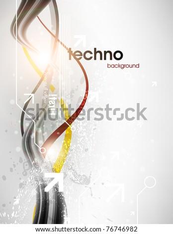 Technology web background/banner for business design. Vector Eps 10.