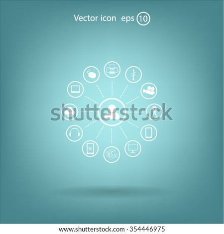 technology web icons set #354446975