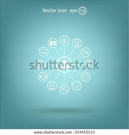 technology web icons set #354450521