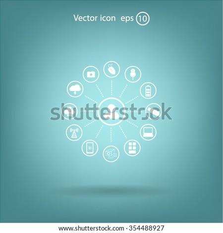 technology web icons set #354488927