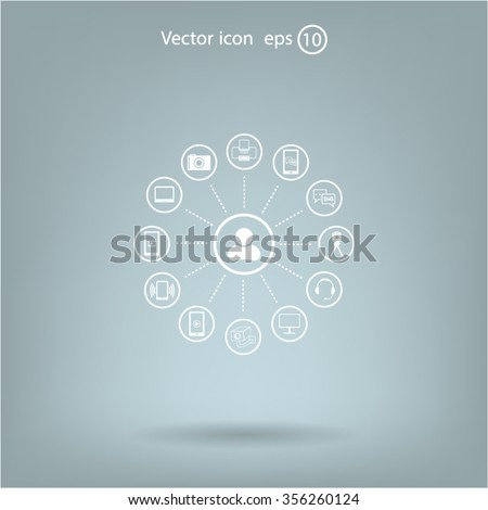 technology web icons set #356260124