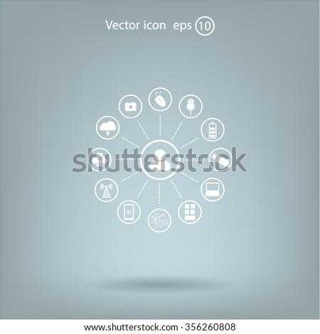 technology web icons set #356260808