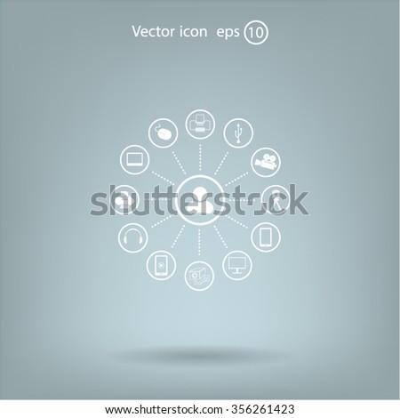 technology web icons set #356261423