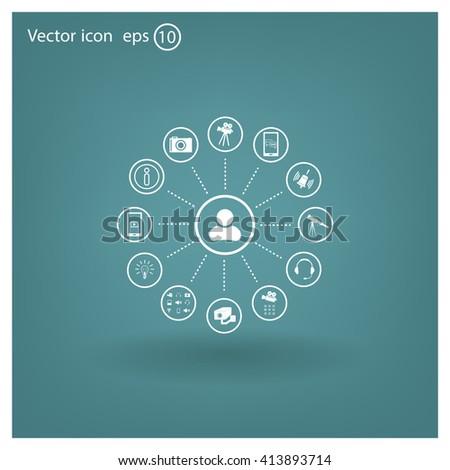 technology web icons set #413893714