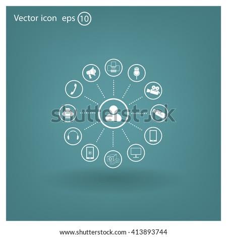 technology web icons set #413893744