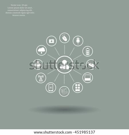 technology web icons set #451985137