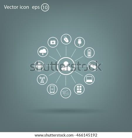 technology web icons set #466145192