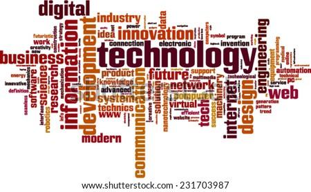 Technology word cloud concept. Vector illustration