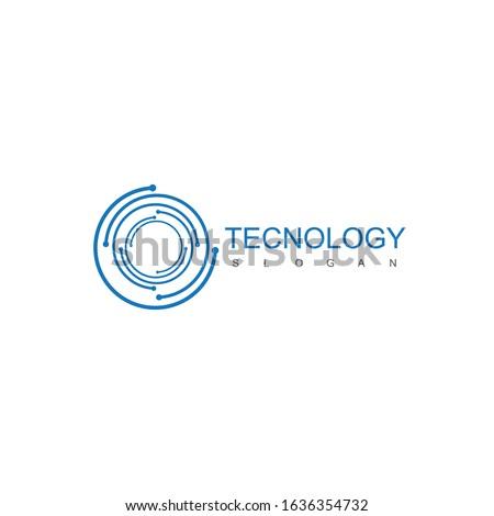 Tecnology Logo Design Inspiration SYMBOL Foto stock ©