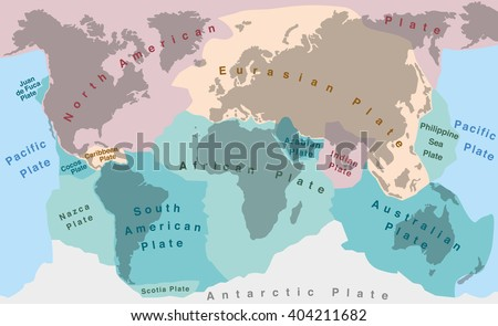 Tectonic Plates Map Vector Download Free Vector Art Stock - Plates map