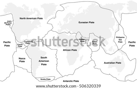 Tectonic Plates Map Vector Download Free Vector Art Stock - Plate tectonics map
