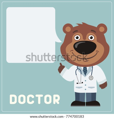 teddy bear doctor with bubble