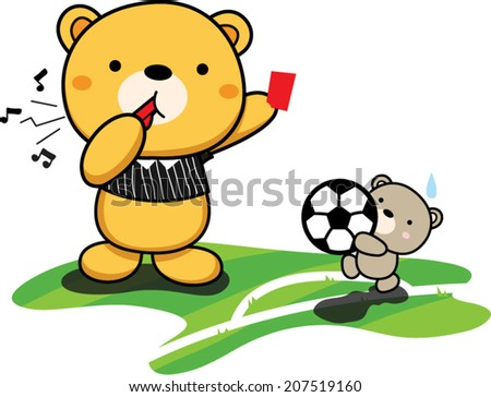 teddy bear dressed as soccer