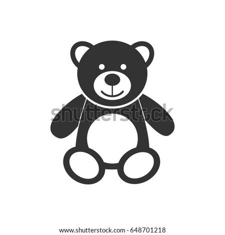 teddy bear icon character