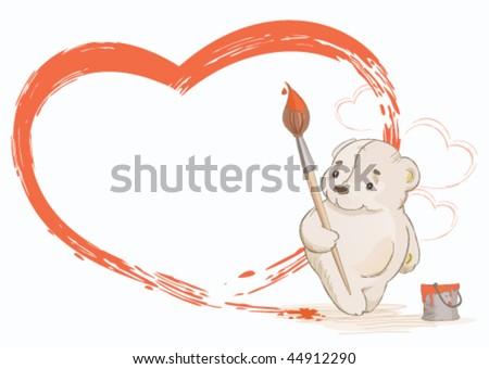 Teddy Bear Paintings Drawings Teddy Bear Paints The Red