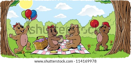 Stock Photo Teddy bear picnic
