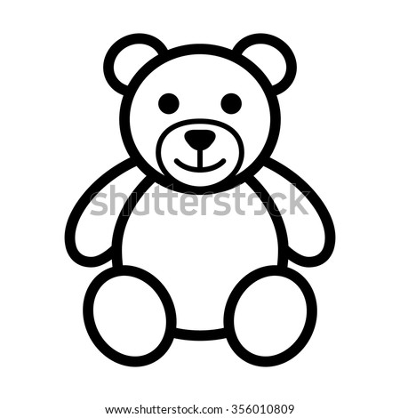 teddy bear plush toy line art