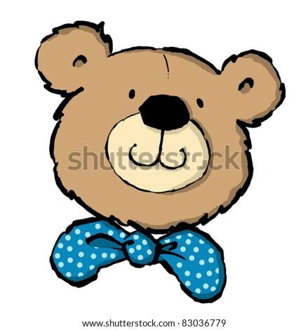Teddy Bear Head Drawing Teddy Bear's Head With a Bow