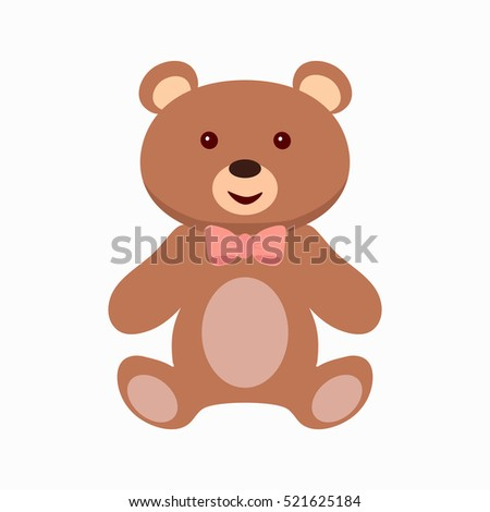 teddy bear toy flat icon