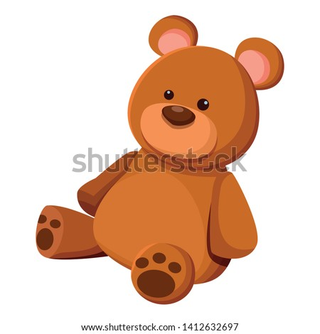 teddy bear toy icon cartoon isolated vector illustration graphic design Stockfoto ©