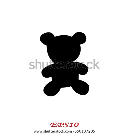 teddy bear  toy  icon  vector