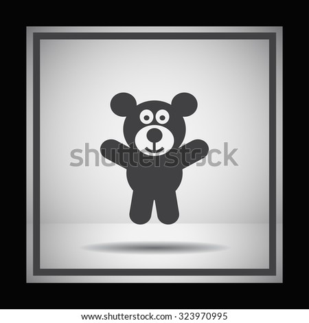 teddy bear vector icon
