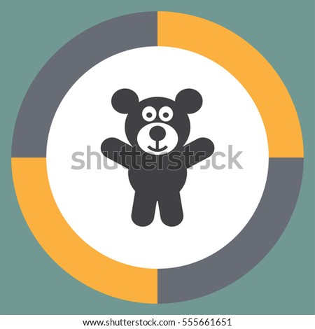 teddy bear vector icon kid toy