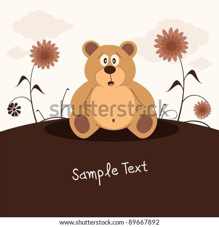 Teddy bear, vector illustration