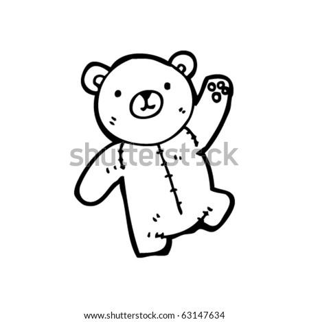 teddy bear waving cartoon