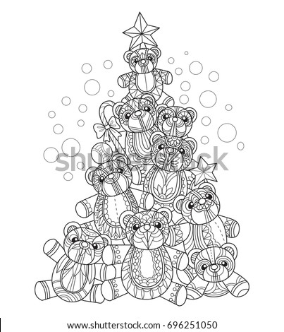 teddy bears christmas tree