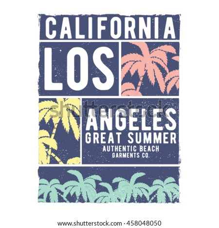 tee print design with palms