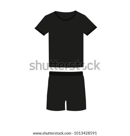tee-shirt and shorts vector