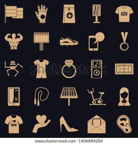 Tee shirt icons set. Simple set of 25 tee shirt vector icons for web for any design