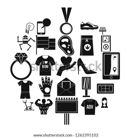 Tee shirt icons set. Simple set of 25 tee shirt vector icons for web isolated on white background