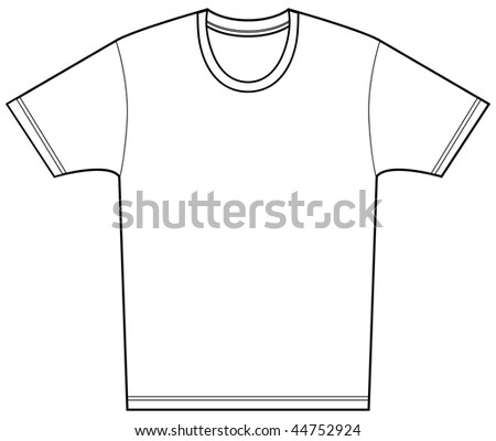 Tee shirt isolated on a white background.