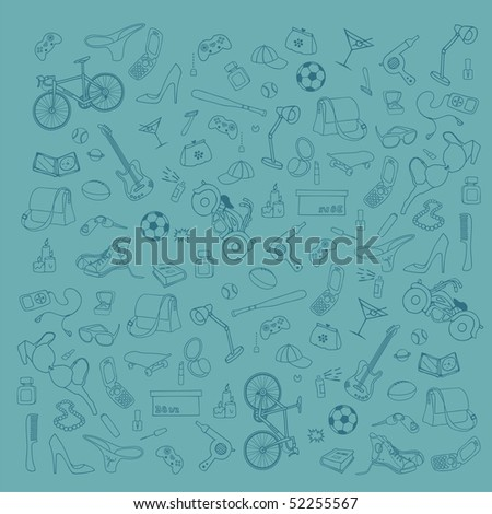 stock vector : teen accessories. Save to a lightbox ▼. Please Login.