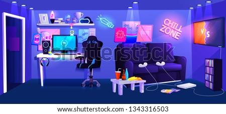 teen game room interior play