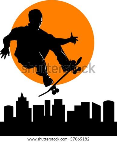 teen makes a jump on a