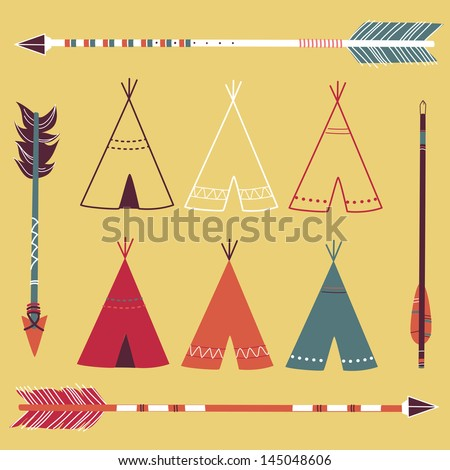 teepee tents and arrows  ...