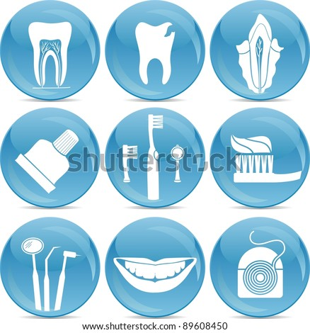 teeth care icons